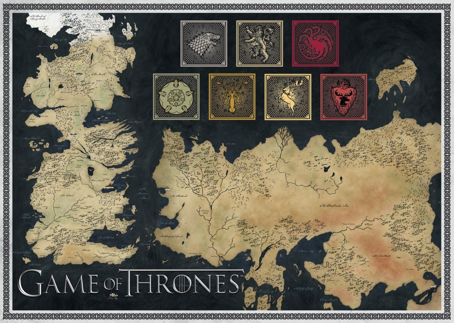 Game of thrones map of the known world jigsaw puzzle 1000 pieces world jigsaw puzzle 1000 pieces gumiabroncs Image collections
