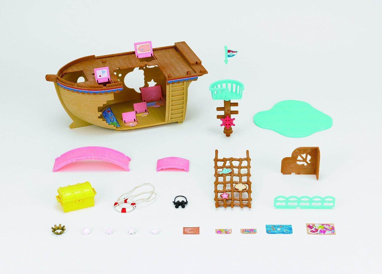 Toys Treasure Boat : Sylvanian families adventure treasure ship crocodile stores
